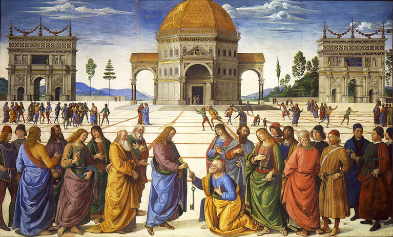 A work by Perugino inside the Sistine Chapel