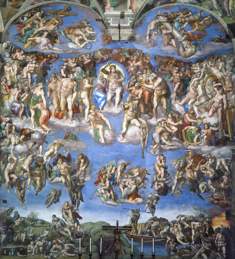 The Last Judgment frescoed by Michelangelo