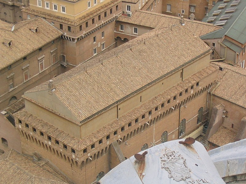 The Sistine Chapel seen from the top
