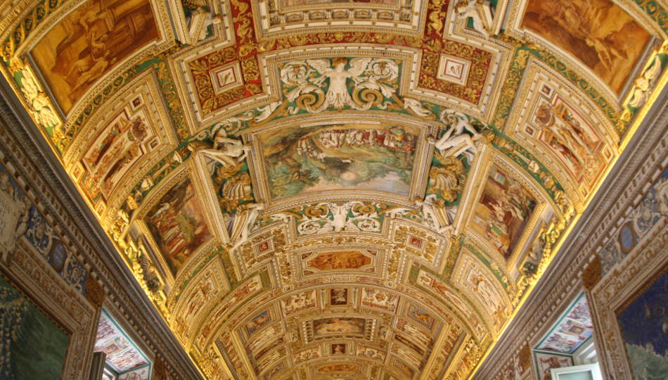 Inside the Vatican Museums in Rome